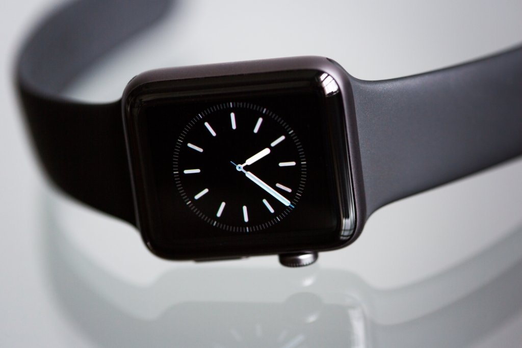 smartwatch on table